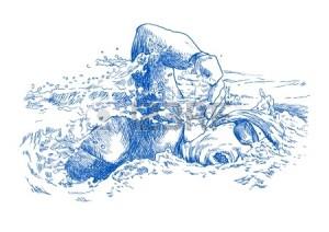 14529690-pływak,-rysunek-konwertowane-ręka